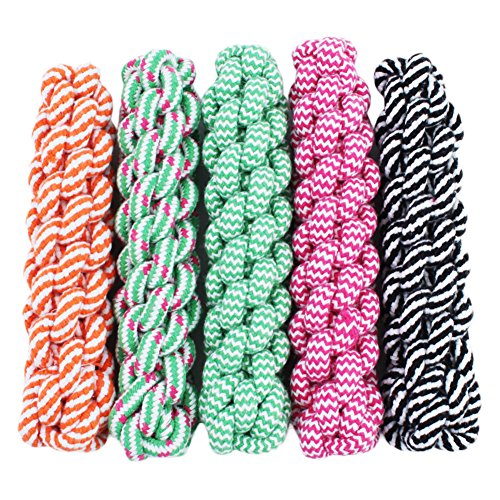 taonmeisu New Fashion Puppy Dog Pet Spielzeug Baumwolle geflochten Knochen Seil Mais Stick Kauen Knoten