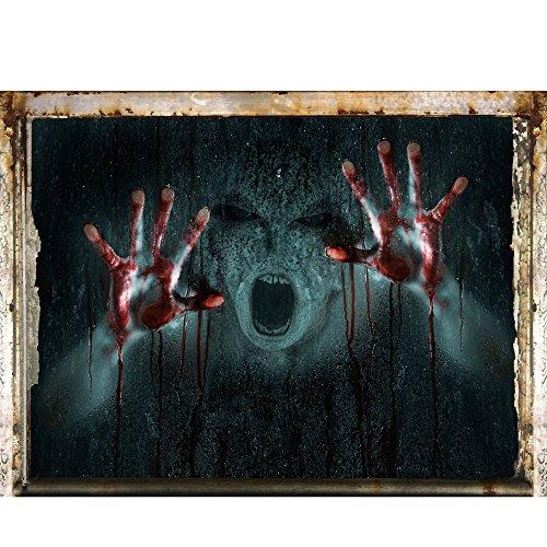 Rosennie Halloween Horror Aufklebe,Decal Removable Terror Haushalt Zimmer Wand Aufkleber Wandaufkleber 3D Wandsticker Wandtattoos Aufkleber für Home Halloween Party Deko 60cm*45cm (B 1)