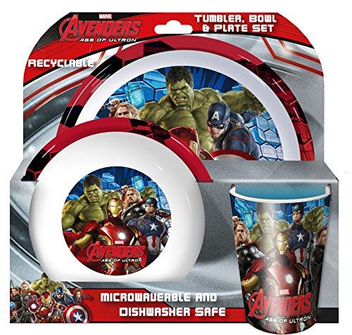 Spearmark Marvel Avengers Age of Ultron-Bicchiere Tumbler, ciotola e piatto