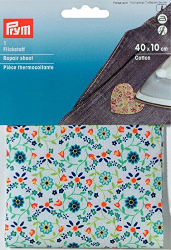 prym-40-x-10-cm-baumwolle-blumen-reparatur-blau-mehrfarbig