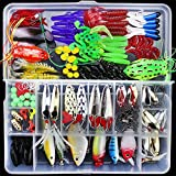 #3: Ocamo 141Pcs Lures Multifunctional All Swimming Layers False Baits for Sea Fishing and Fresh Water 141Pcs
