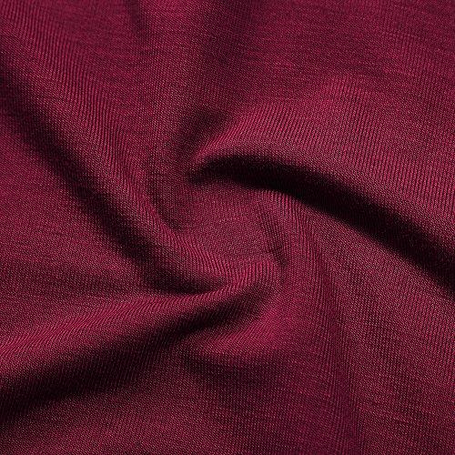 KoJooin Damen Plus Size V-Ausschnitt Gradient Spitze Bluse T Shirt Tops Longshirt Shirtkleid Strandabdeckung Mini Kleid Rot Kurzarm