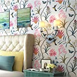 CICDGD Tapeten Tapete Moderne Minimalistische American Farden Blumen und Vögel Muster 3D Wallpaper Roll für Wohnzimmer/Schlafzimmer / TV Wand/Bekleidungsgeschäft / Restaurant