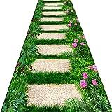 QiangDa Flur Teppich Läufer Langflor Teppiche Lang 3D Langer Gang Anti-Rutsch Sanfte Berührung Kunststoffkörnchen Verschleißfest Mehrdimensional, Dicke 6 mm (Farbe : 1#, Größe : 0.8m x 4m)