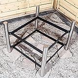 Köhko Designer-Feuerschale Ø 79 cm + 2 Griffen mit Ständer (Höhe 50 cm) aus Edelstahl und lackierten Eisenstreben 42019-41002 Vergleich