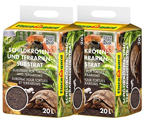 Floragard Schildkröten- und Terrariensubstrat 2 x 20 L, Schildkrötenerde