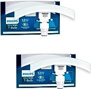 Philips T Bulb Curve, 12 Watt, Base B22, Cool Daylight, Pack of 2