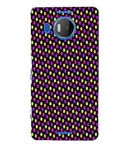 Florocent Dots 3D Hard Polycarbonate Designer Back Case Cover for Nokia Lumia 950 XL :: Microsoft Lumia 950 XL