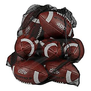Adorox 1pc Extra Large Heavy-Duty Professional Sports Ball Bag Drawstring Mesh with Shoulder Strap