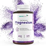 Magnesium Citrate Supplement [ 400 mg ] By Aava Labs - Pure & Non-Buffered - For Healthy Bones & Heart Function, Sleep Aid & Relaxation - 100% Vegan and Non-GMO - 120 Veggie Caps.