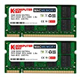 Komputerbay - Kit MACMEMORY 6GB (moduli da 4GB/2GB) PC2-5300 667MHz DDR2 SODIMM per Apple iMac MacBook Pro