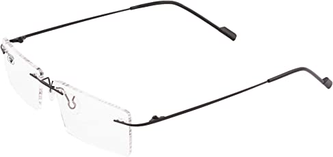 Royal Son Rimless Rectangular Spectacle Frame For Men And Women (RS0100ER|50|Transparent)