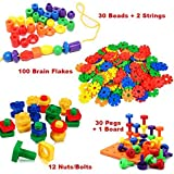 Preschool Learning Toys by Mr. E Mega Gift Pack | Lacing Beads