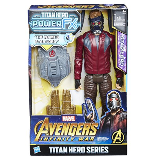 HASBRO Avengers e0611ew0 - Marvel Titan Hero Star of Lord Action Figure, with Power FX Pack