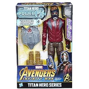 Hasbro Avengers e0611ew0-Marvel Titan Hero Star de Lord Figura de acción, con Power FX Pack