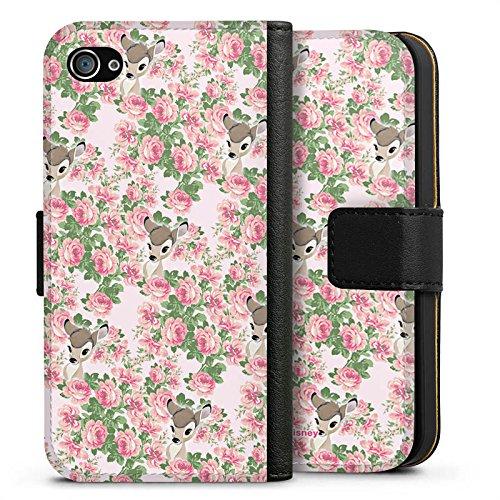 Apple iPhone X Silikon Hülle Case Schutzhülle Disney Bambi Fanartikel Merchandise Sideflip Tasche schwarz