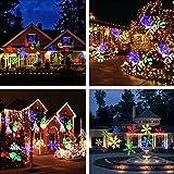 Podofo LED Projecteur Noël pour Paysage de Flocon de Neige Lens Moving Spotlight Paysage Étanche Pour Jardin Fête Anniversaire Mariage Soirée Bar Intérieur Extérieur Lampe (Multicolore)