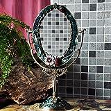 Makeup mirror/mirror Regalo Retro Marco de Espejo/Imagen Europea de Doble Cara Espejo de Escritorio Creativo Princesa Espejo de tocador de Maquillaje