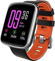 YAMAY Smartwatch Android iOS Orologio Fitness Tracker Uomo Donna Smart Watch Cardiofrequenzimetro da Polso Impermeabile IP68 Contapassi Smartband Activity Tracker Cronometro per iPhone Samsung Huawei