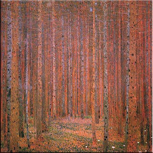 Time4art Gustav Klimt Print Canvas Bild Tannenwald Firwood Fir Forest Jugendstil auf Keilrahmen...