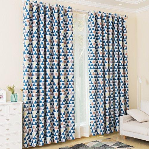 KINLO® 2 Sets 145x245cm Gardinen blickdicht Ösen Vorhang aus 100% Polyester Verdunklungsvorhang TOP Qualität für Kinderzimmer Gardinen verdunkelung Fenstervorhang wohnzimmer 2 Jahren Garantie