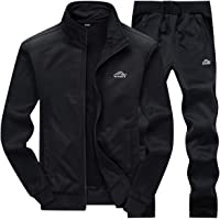 LBL Men's Casual Warm Tracksuit Set Long Sleeve Full-Zip Athletic Jogging Sweat Suits