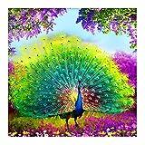 Diy 5D Diamond Painting,Cartoon Peacock Apertura Della Schermata Diy 5D Diamond Kit Di Pittura Pittura Di Diamante Di Strass Foto Ricami A Punto Croce Arte Artigianato Per Decorazioni A Parete Doni,50