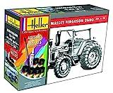 Heller 57402 Massey-Ferguson 2680, mit Farbe, Kleber, Pinsel Modellbausatz, grau