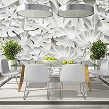 murando® Fotomural 500x280 cm - Top - Papel tejido-no tejido. Fotomurales - XXL -Papel pintado - Hojas blanco f-B-0058-a-a
