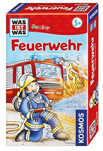 Kosmos 712556 - WAS IST WAS Junior - Feuerwehr, spannendes Quiz für Kinder ab 5 Jahre, Mitbringspiel