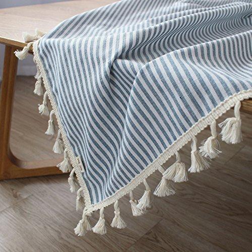 MOMO Einfaches modernes Baumwolltuch Stripes rechteckige Tischdecke-Farben,AA,90x150cm (Mischung Leinen Rock)