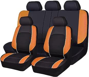 HORSE Kingdom Housses de si/ège de voiture universelles en similicuir avec airbag