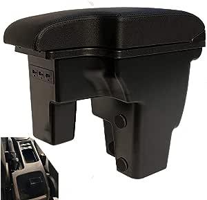 Armlehne Mittelkonsole Aufbewahrungsbox Mit Aschenbecher Und Getränkehalter Für Focus 3 Mk3 2011 2019 17 Focus Schwarze Nähte Auto