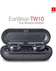 iBall EarWear TW10 in-Ear Bluetooth Wireless Headphones with Protective Charging Case, Black