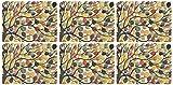 Pimpernel 30.8 x 23.2 cm, MDF, Kork, Dancing Zweigstellen Platzsets, 6 Stück, mehrfarbig, Farbe