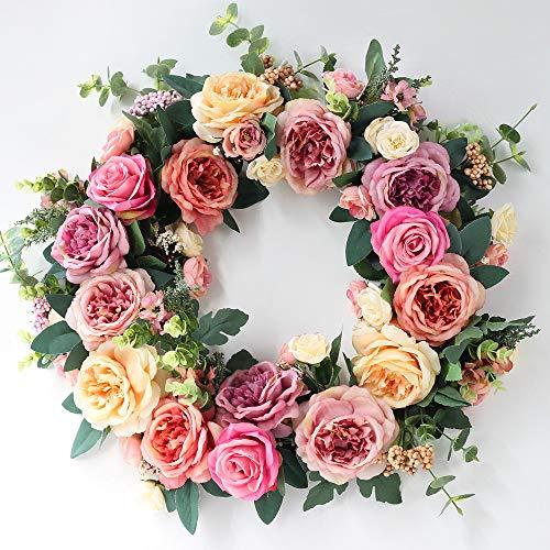 VHVCX Simulations-Blumen-Simulations-Blumen-Silk Tuch 50Cm Silk Blume Rose Peony Türdeko Tür Blume Dekoration