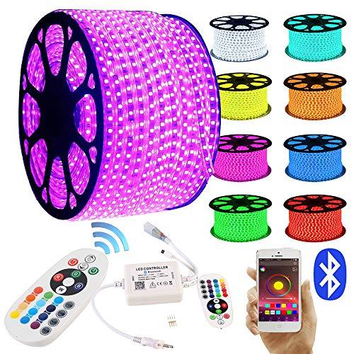 GreenSun LED Lighting LED Strip RGB 20M LED Licht Streifen SMD 5050 60Leds/M mit 24 Tasten Bluetooth Fernbedienung Led stripes Lichtband Leiste Band Beleuchtung Lichterkette Lichterschlauch