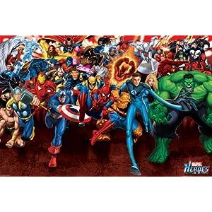 Poster Marvel: Alle Helden - Größe 91,5 x 61 cm - Maxiposter
