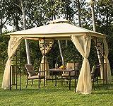 Outsunny - Gazebo da giardino di lusso Tendone da giardino 3x3 m immagine
