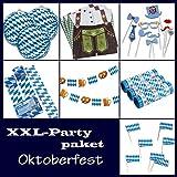 Partypaket Oktoberfest - XL Deko Komplettpaket Girlande Luftschlangen Servietten Bayern