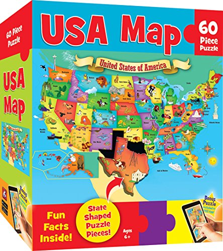 USA Map (60 PC Children's Puzzle)