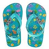AQUAZON Ocean Flip Flops Badeschuhe Aquaschuhe Strandschuhe OCTOPUSSY für Babies, Kleinkinder und Kinder in türkis und pink, Size:27, Colour:türkis