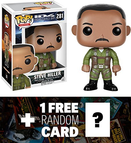 Steve Hiller: Funko Pop X Independence Day Vinyl Figure + 1 Free Classic Sci-Fi Movies Trading Card Bundle [78096]