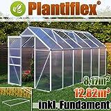 Gewächshaus mit Fundament 8,17m - 190x430cm Garten Pflanzenhaus Alu Treibhaus Tomatenhaus