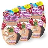 Montagne Jeunesse Schlamm - Tuchmaske mit natürlichen Heilerden – Rote Tonerde – 3er Set