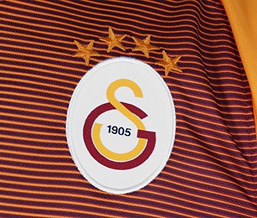 Nike Galatasaray SK M Ss Hm Stadium Jsy-Maglietta a maniche corte da uomo Rojo (Pepper Red / Pepper Red / Vivid Orange / White)