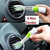 #1: Nisa Mart Car Air Outlet Vent Internal Cleaner Keyboard Dust Cleaning Brush Tools