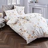 Estella Flanell-Bettwäsche Sellrain, Bettdeckenbezug: ca. 140cm x 200cm, Kissenbezug: ca. 70cm x 90cm, 100% Baumwolle