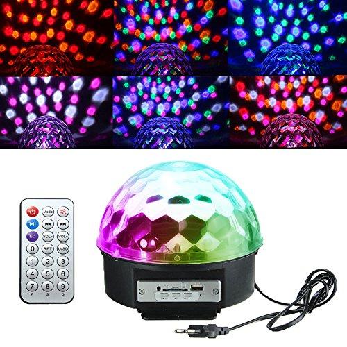 Luci da palco, KINGSO Bluetooth Cristallo palla lampada magica LED