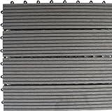 Naturesort n4-otm4g 4-slat Bambus Composite Deck Fliesen, grau